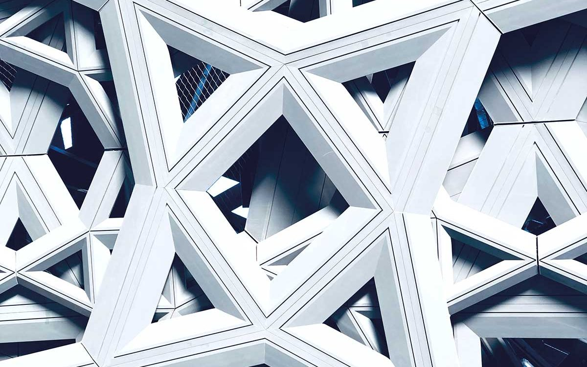 Close-up des Dachs vom Louvre in Abu Dhabi