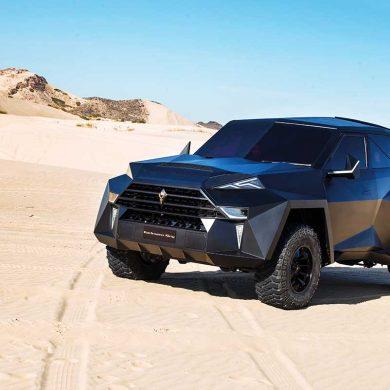Darth Vaders Firmenwagen in der Wüste