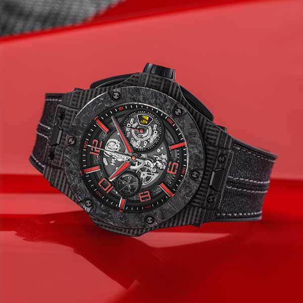 Hublot Big Bang Scuderia Ferrari 90th anniversary, rote Details