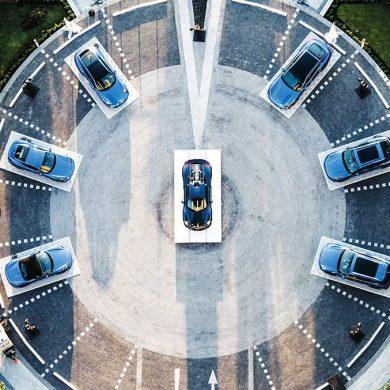Porsche Design der Extraklasse, Fahrzeuge von oben