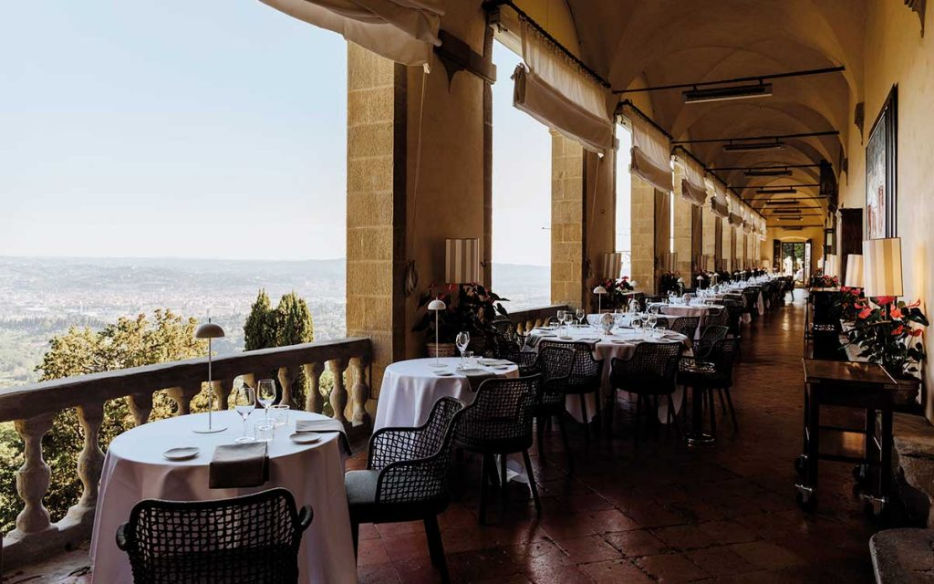 Belmond Villa San Michele Terrasse