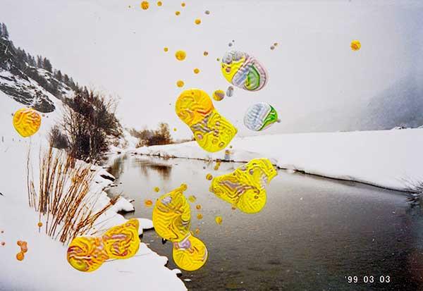 Künstlerisch bemaltes Foto, Gerhard Richter