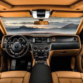 Luxus Auto Rolls Royce Cullinan Innenraum
