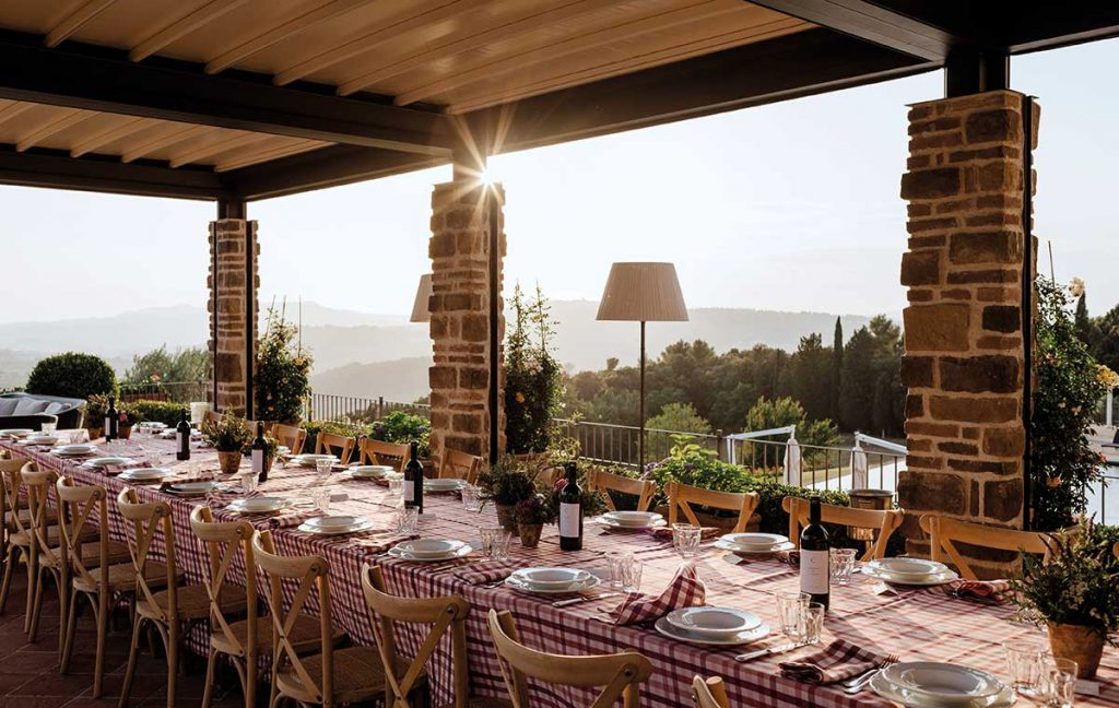 Belmond Castello Di Casole Terrassenaussicht