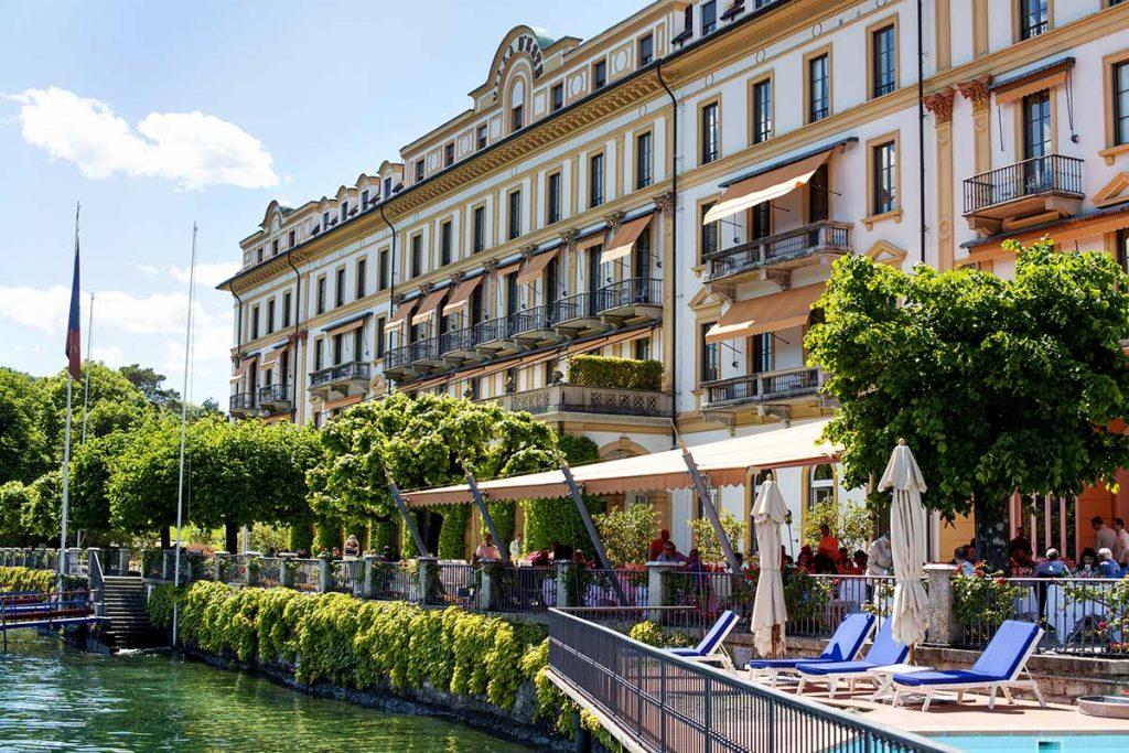 Luxus Hotel Villa d'Este – Ansicht vom See aus