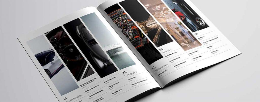 DREAM ICON aufgeschlagenes Printmagazin