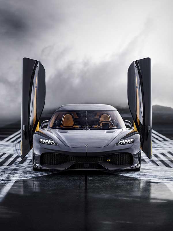 Koenigsegg Gemera frontal von vorne