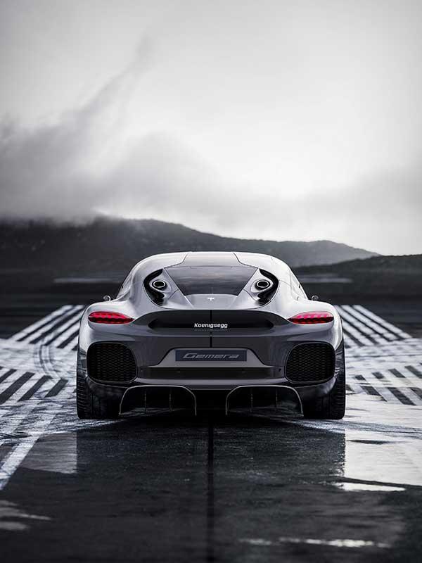 Koenigsegg Gemera von hinten
