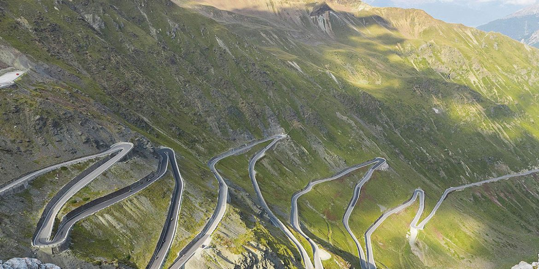 Fahrstrecke in den Bergen