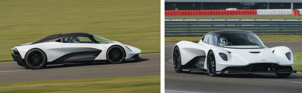 Aston Martin fahrend auf einer Rennstrecke