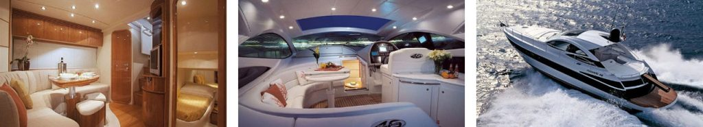 Die Pershing 46 sleek Yacht