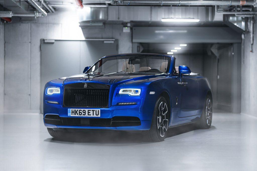 Rolls-Royce Dawn Black Badge in Salamanca Blau Lackierung