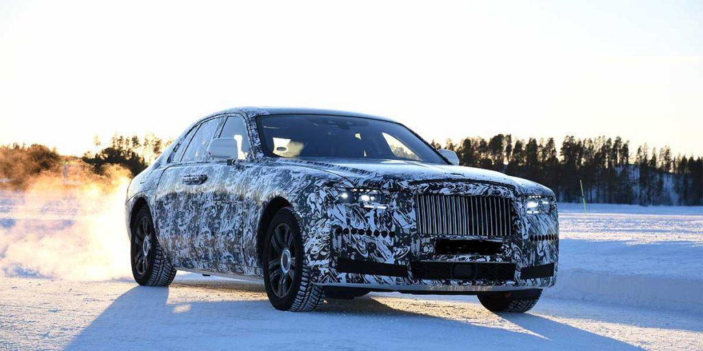 Der neue Rolls Royce Ghost bei Testfahrten im winterlichen Nordschweden