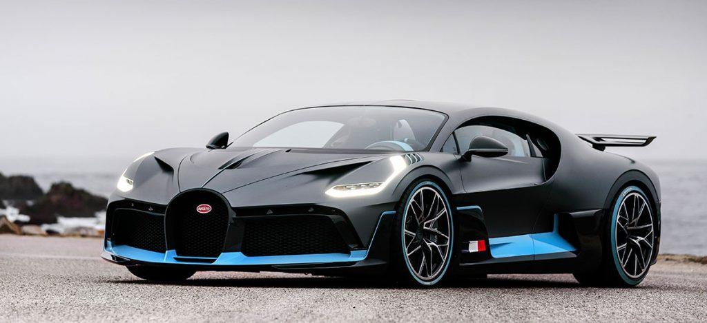 Bugatti Divo Frontansicht am Starnd