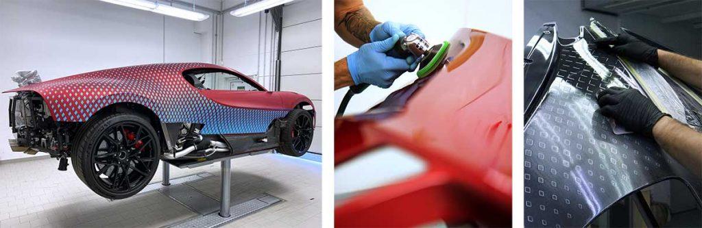 Bugatti Divo in Werkstatt